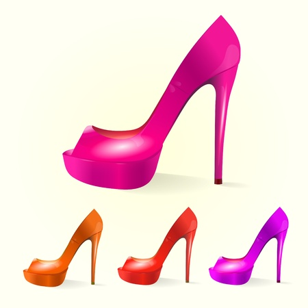 Set of women shoes Vector