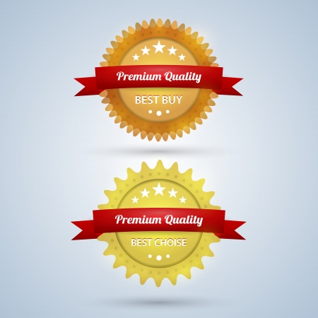 Two Premium Quality badges Vector
