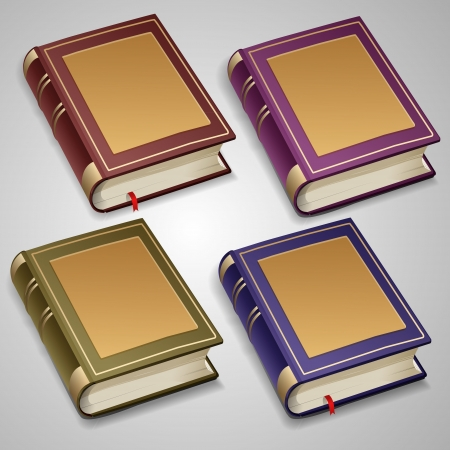 Vector set of old books Stock Vector - 19706577