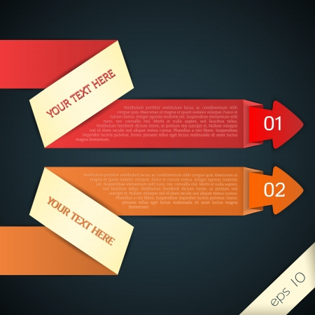 Colored arrows for your text, vector Vector