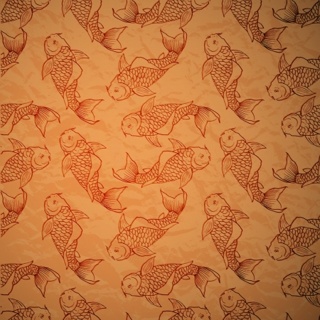 Seamless pattern with catfish Vector