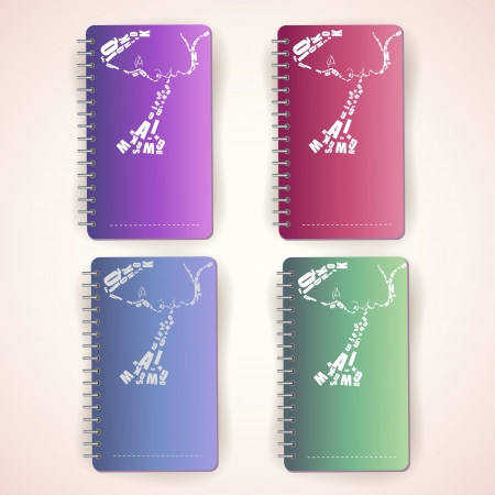 Set of colored notepads Stock Vector - 19773644