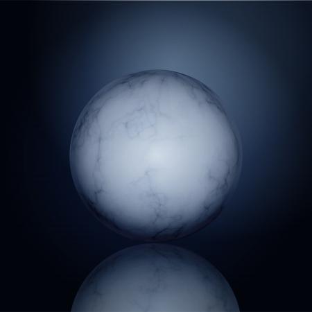 Glossy Marble Ball Vector
