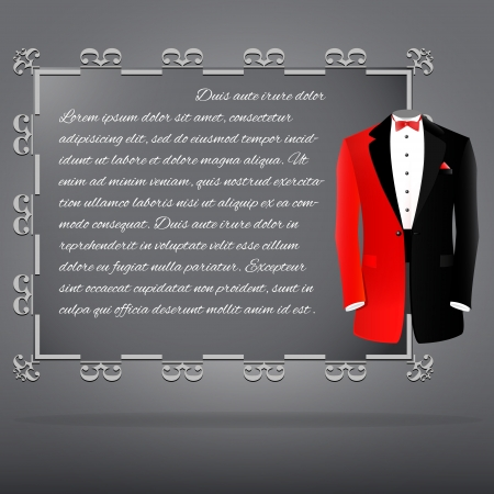 Syncopate with red & black suit illustration Vector