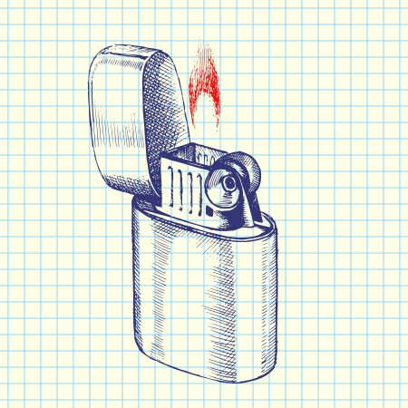 Lighter sketch illustration Vector