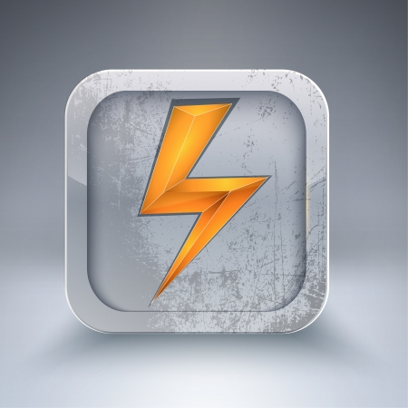 electricity 3d icon Vector
