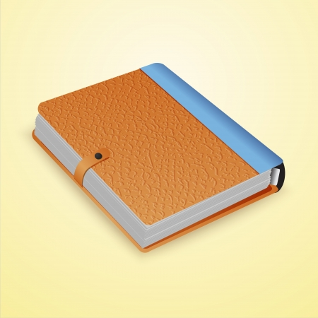 Closed dairy book.  Vector