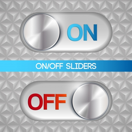 On-off slider Vector