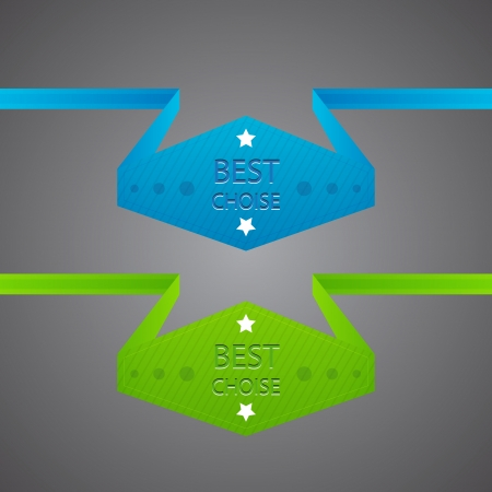 Blue and green best choice labels Vector
