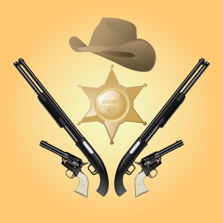 Texas sheriff set Vector