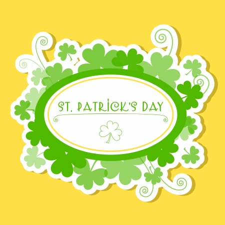 Greeting Card St Patrick Day illustration Stock Vector - 19773896