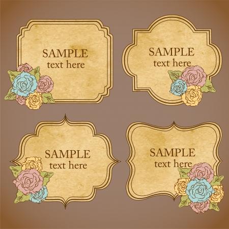 vintage floral frames Illustration