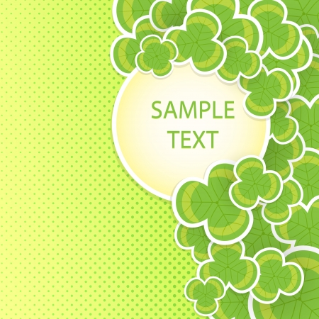 Clover vector background on the occasion of st patricks day Vector