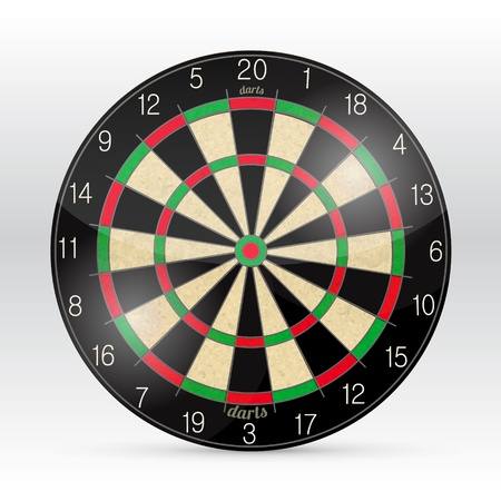Darts Board Isolated on White Background. Vector. Vector