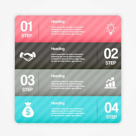 Modern Step By Step Web Elements. Vector Design Infographics