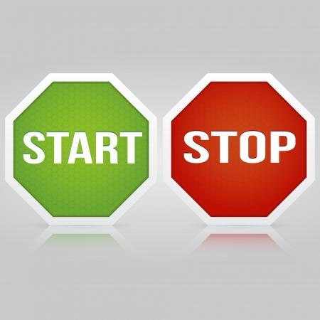Start Stop vector banner Vector