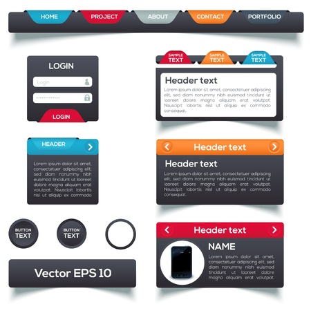 Web elements  Vector