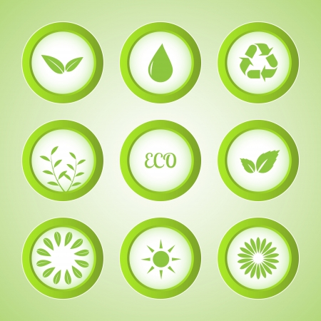 set of eco buttons. Vector