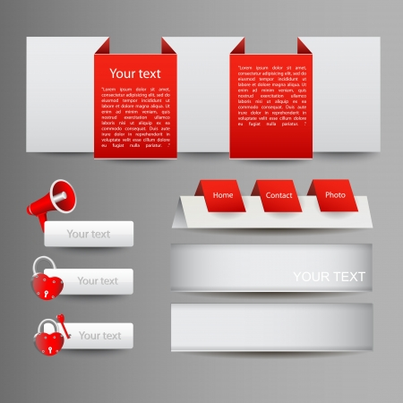 Red Web Elements Vector