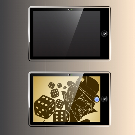 Two tablets Stock Vector - 19858600