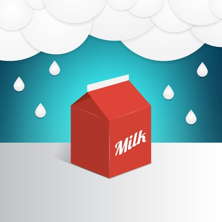 illustration of a milk container Vector