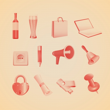 Household items illustration Stock Vector - 19858588