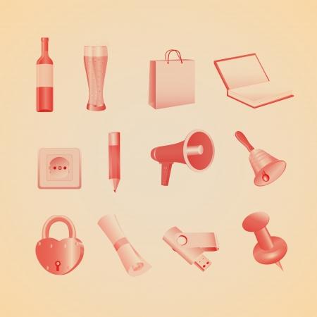 Household items illustration Stock Vector - 19858588