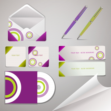 Sheets of paper, envelopes, pen and lorgnette illustration Vector