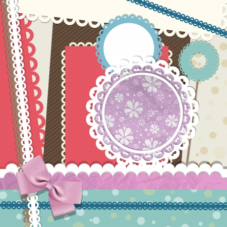 Scrapbook elements illustration. Vector
