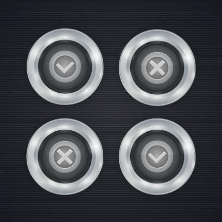 check mark buttons Stock Vector - 19898846