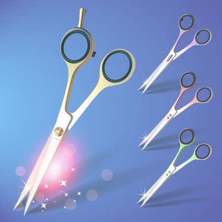 Scissors set Vector