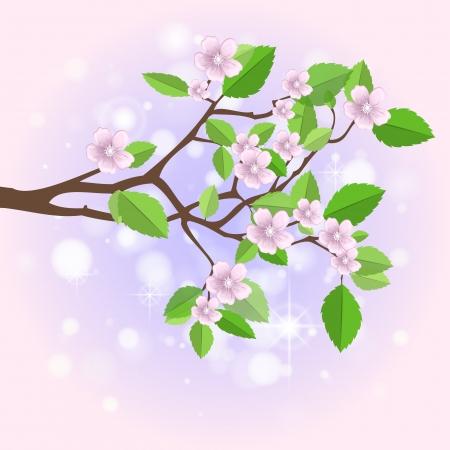 Spring branch.  Vector
