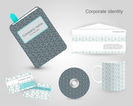 Set of corporate identity templates illustration. Stock Vector - 19898835