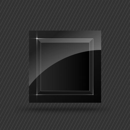 black square button Stock Vector - 19898504