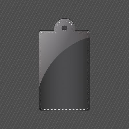 black tag Vector