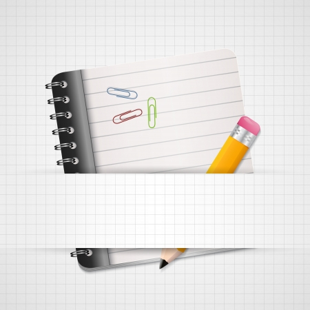 Blank Paper with Notebook Stock Vector - 19909764
