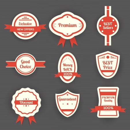 Set of sale labels Stock Vector - 19909814