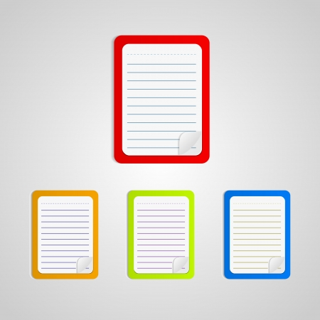 Colored notebook set Stock Vector - 19909880