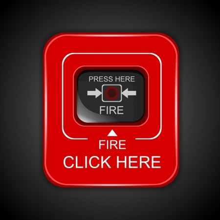 Red fire alarm Vector