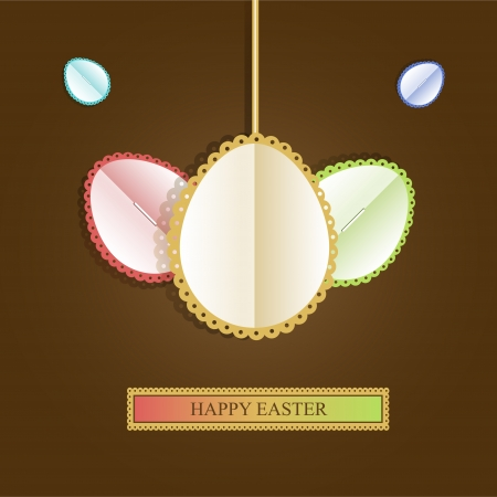 Happy easter card Vector