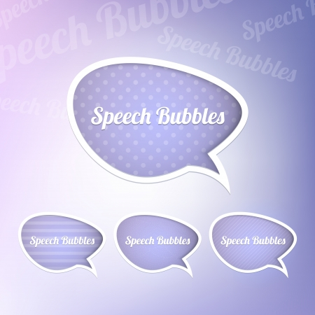 Group of speech bubbles Vector