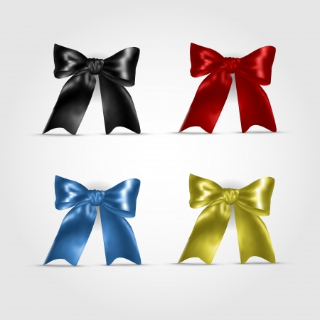 Set of colorful bows Vector
