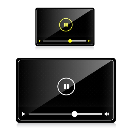 audio video player Vector