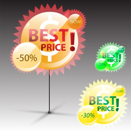 Best price label illustration Stock Vector - 19936578