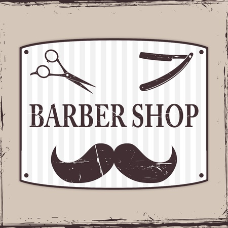 Barber Shop or Hairdresser icons Stock Vector - 20003847