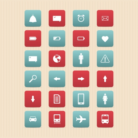 Web icons set. Internet icons collection. Stock Vector - 19993568