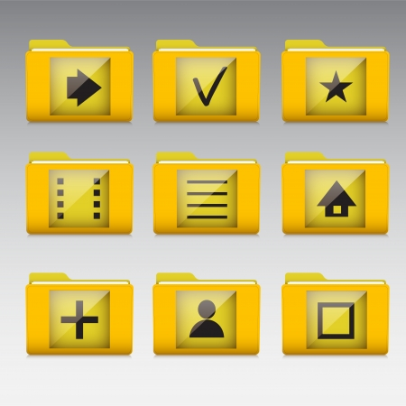 Typical mobile phone apps and services icons Vector