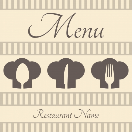 Restaurant sign menu with spoon, fork and knife Vector