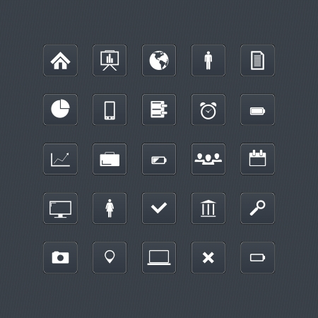 Computer and internet web icons buttons set Vector