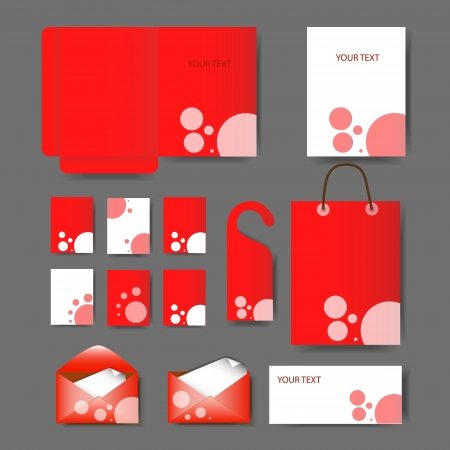 Set of templates corporate identity Vector